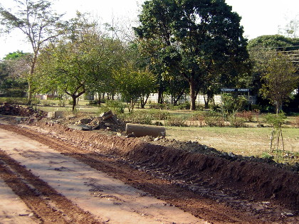 Roadworks on Harare Drive